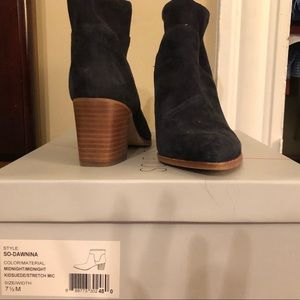 Booties in its original box worn twice